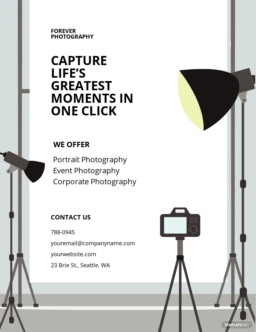 Studio Photography Flyer Template