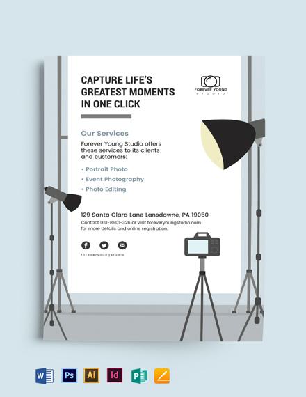Studio Photography Flyer Template