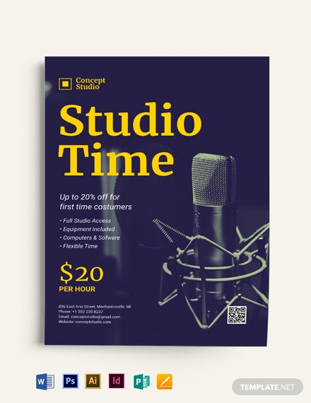 Studio Time Flyer Template