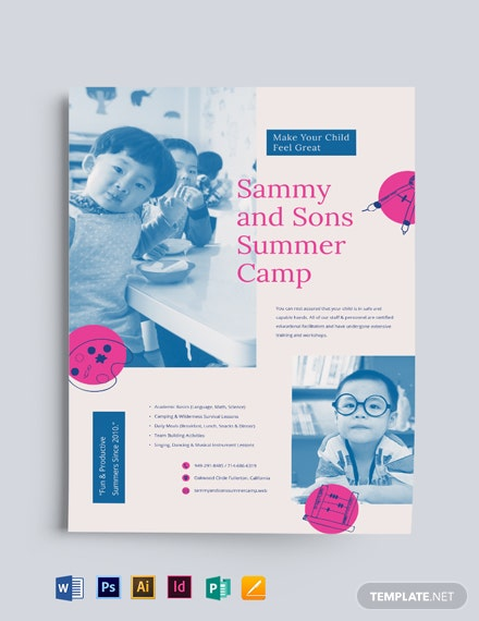 Summer School Flyer Template