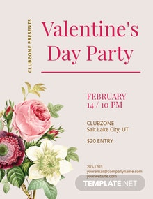 Valentines Event Flyer Template