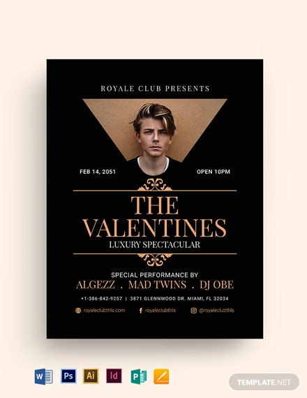 valentines luxury spectacular flyer template