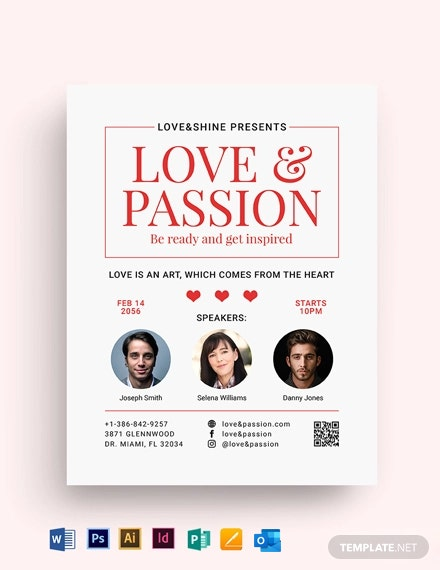 Valentines Speaker Night Flyer Template