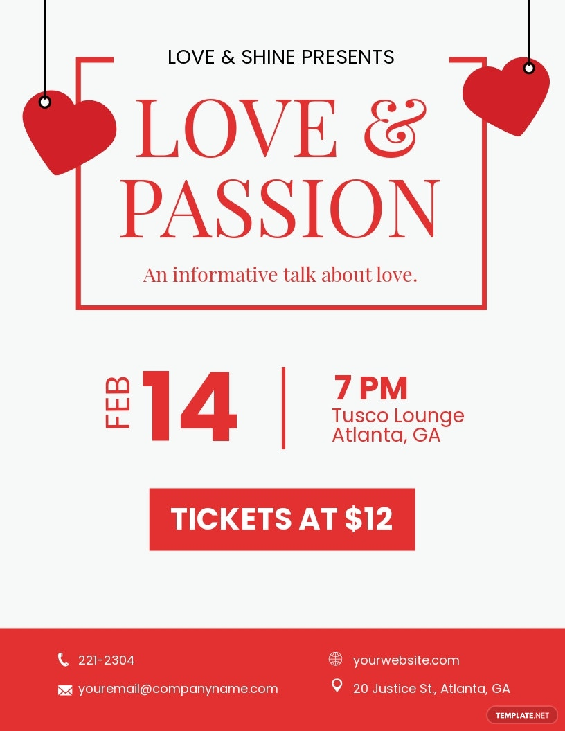 Valentines Speaker Night Flyer Template