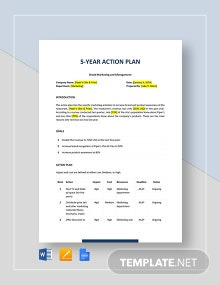 5-Year Action Plan Template