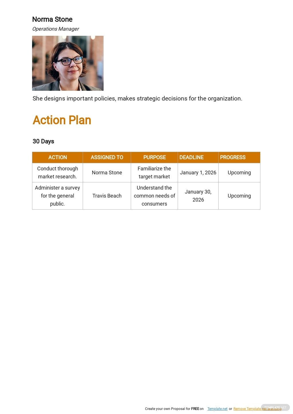 30 60 90 On The Job Action Template Plan Template 2.jpe