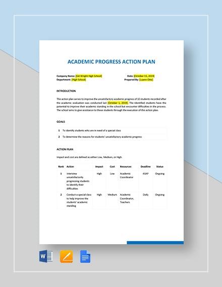 academic action plan