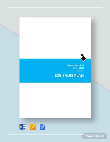 B2B Sales Plan Template
