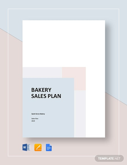Bakery Sales Plan Template