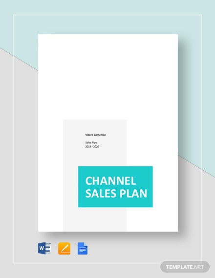 channel sales plan