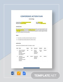 Conference Action Plan Template