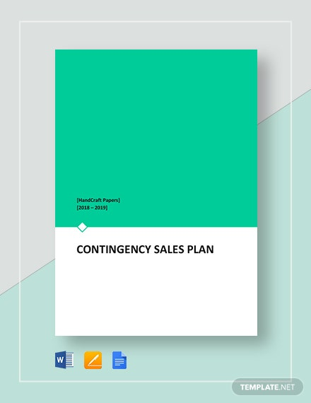 Contingency Sales Plan Template