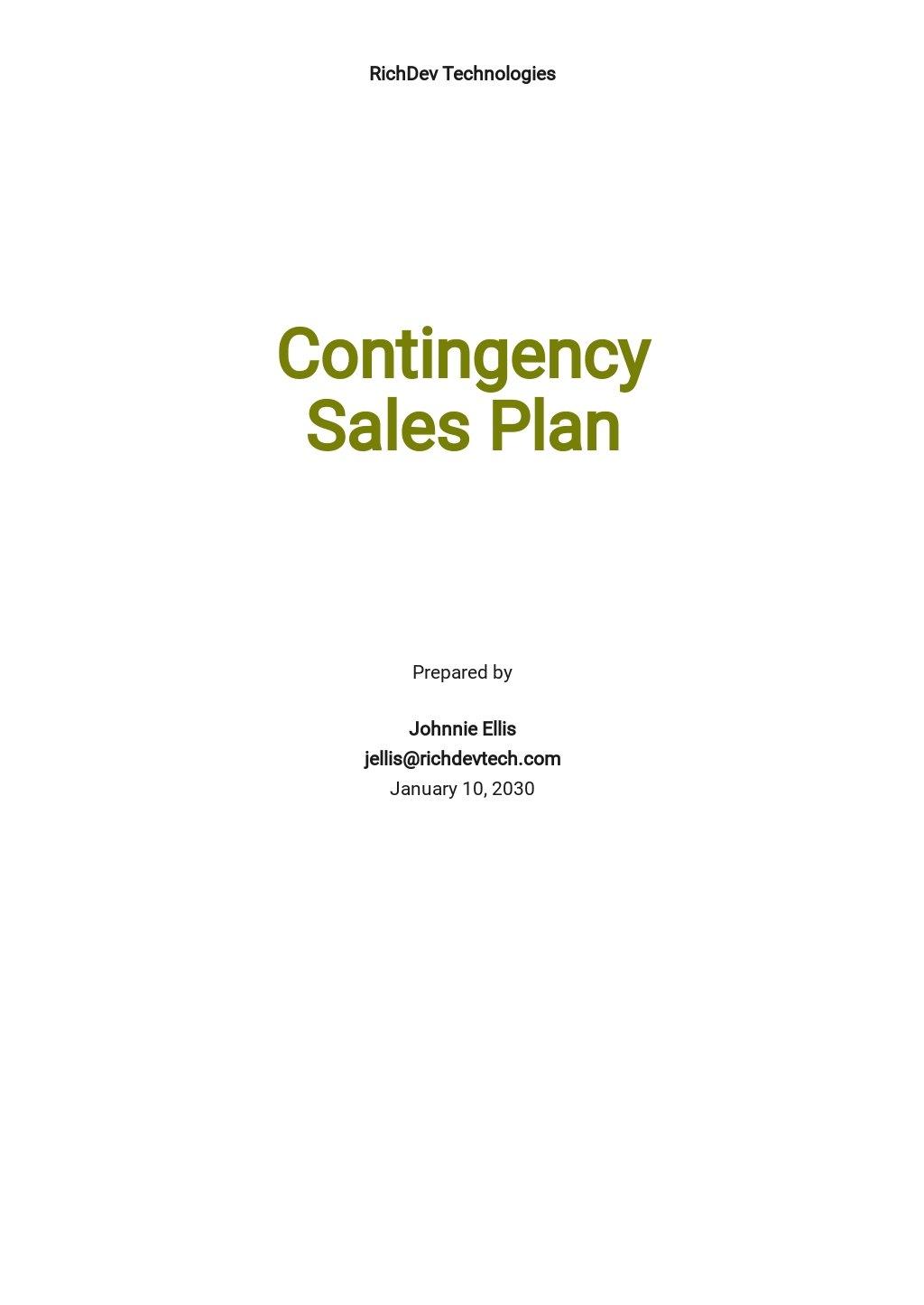 Contingency Sales Plan Template.jpe