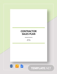 Contractor Sales Plan Template