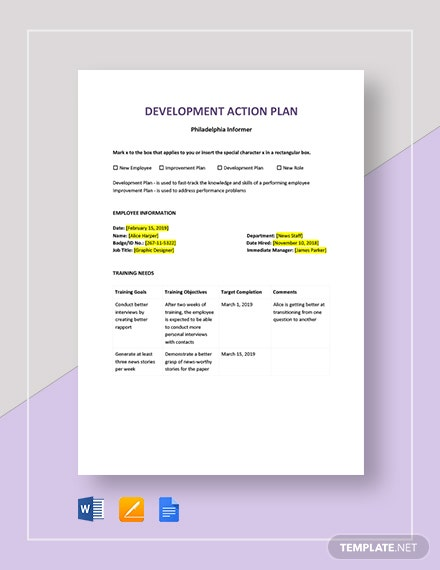 development action plan