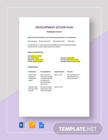 Development Action Plan Template