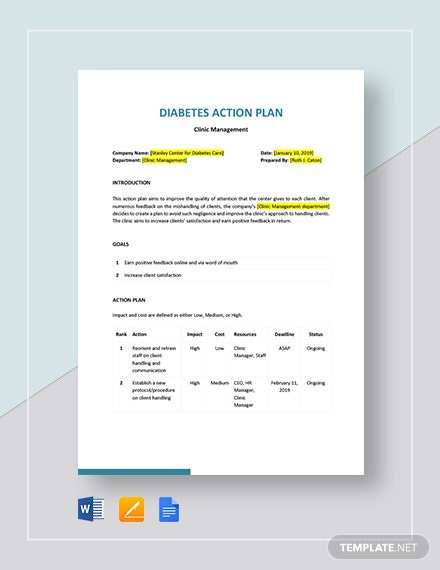 diabetes action plan