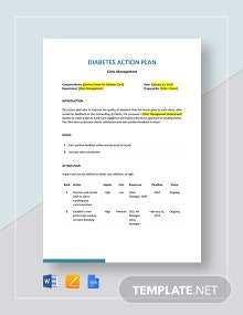 Diabetes Action Plan Template