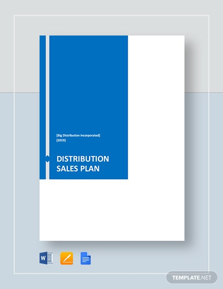 distribution sales plan