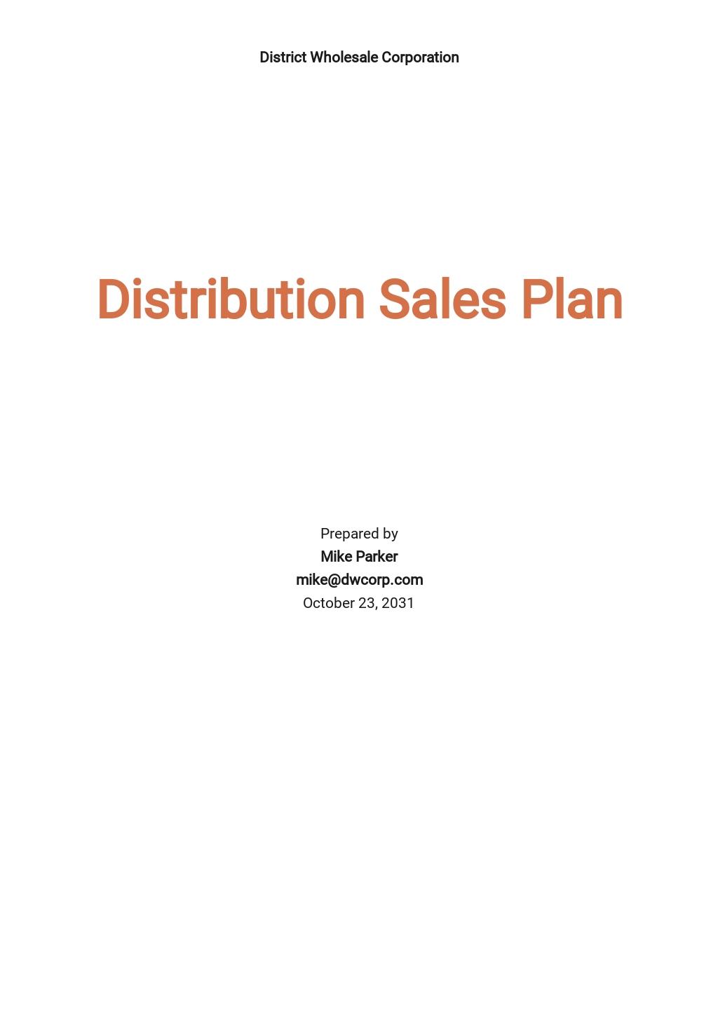 Distribution Sales Plan Template.jpe