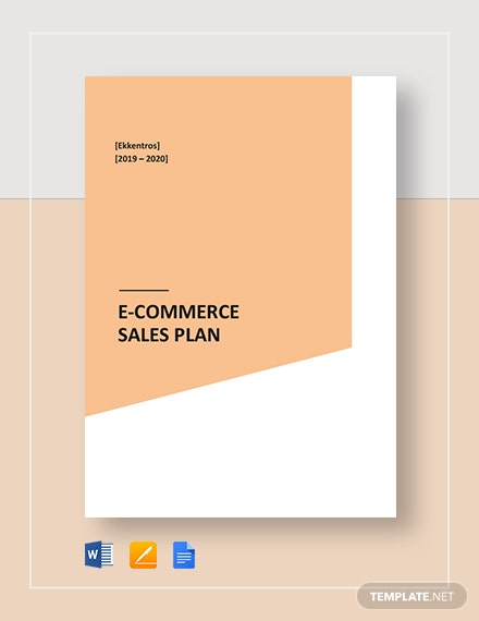 E-Commerce Sales Plan Template