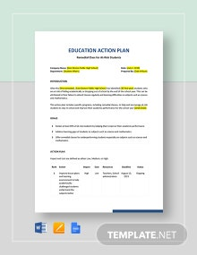 Education Action Plan Template