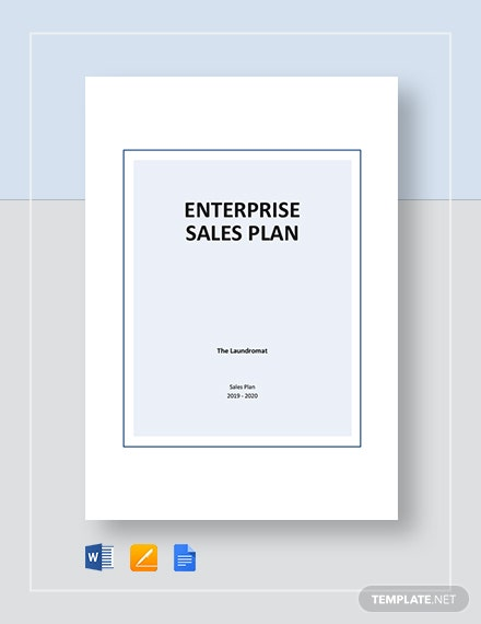 Enterprise Sales Plan Template