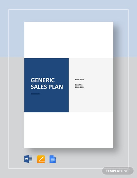 Generic Sales Plan