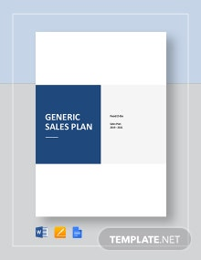 Generic Sales Plan Template