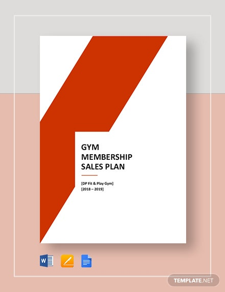 Gym Membership Sales Plan Template