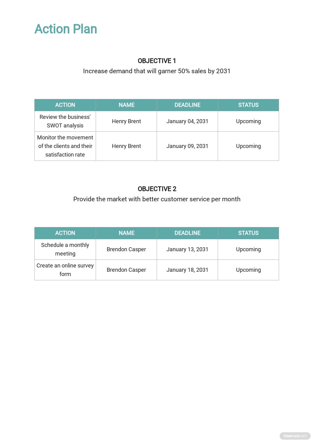 Medical Clinic Sales Plan Template 4.jpe