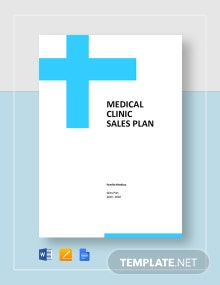 Medical Clinic Sales Plan Template
