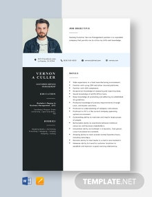 Customer Service Management Resume Template