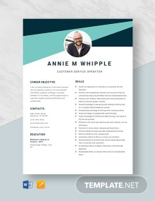 Customer Service Operator Resume Template
