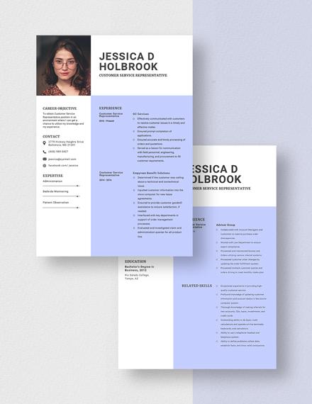 Customer Service Representative Resume Download