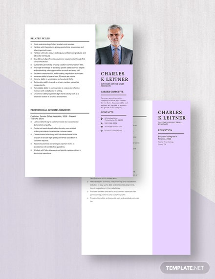 Customer Service Sales Associate Resume Download