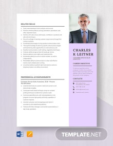 Customer Service Sales Associate Resume Template