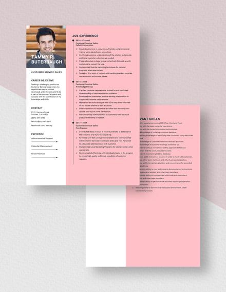 Customer Service Sales Resume Download