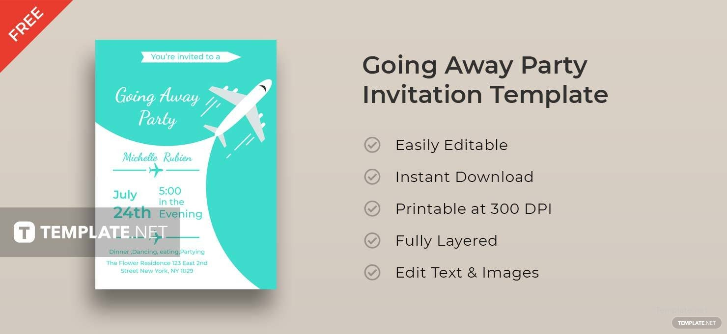 Free Going Away Party Invitation Template in Adobe Photoshop ...