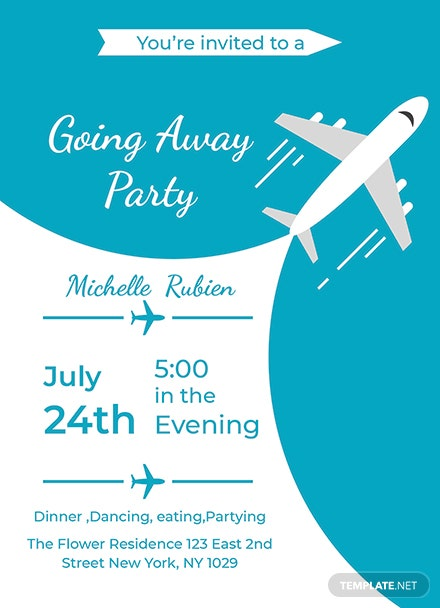 Free going away party invitation template download 344 invitations free going away party invitation template stopboris Images