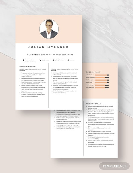 Customer Support Representative Resume Download