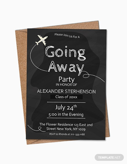 Gargantuan image in free printable going away party invitations