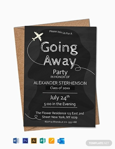 Free Printable Going Away Party Invitation Template