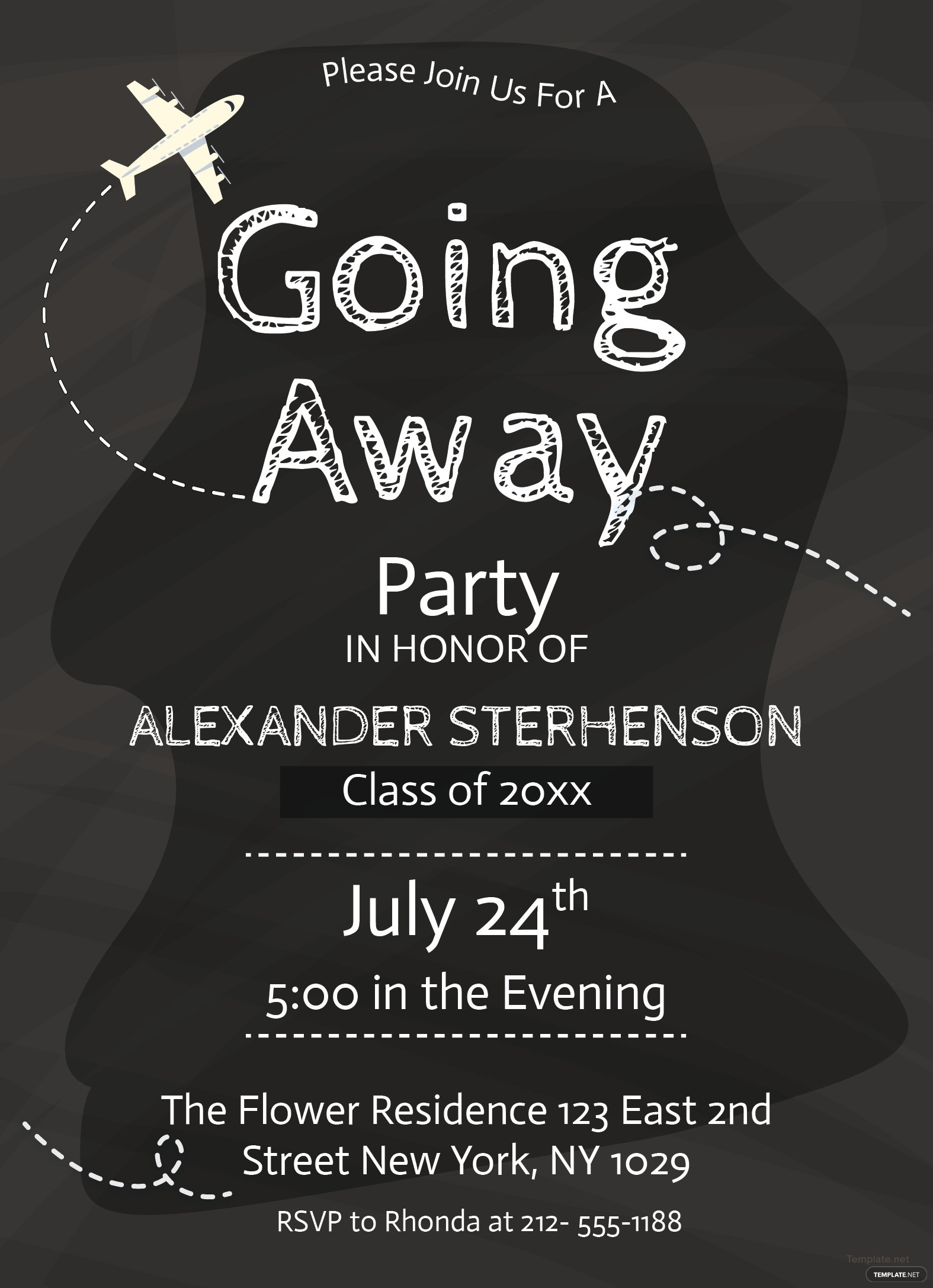 Dashing image pertaining to free printable going away party invitations