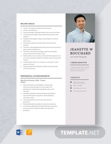 Data Entry Processor Resume Template