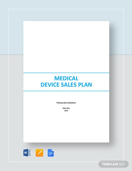 Medical Device Sales Plan Template