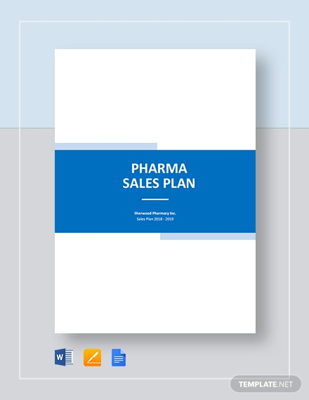 Pharma or Drug Sales Plan Template