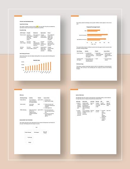 Sample Project Sales Plan