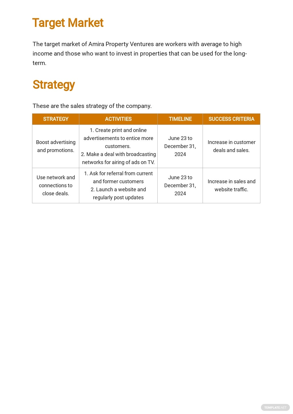 Property Investment Sales Plan Template 2.jpe