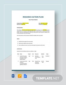 Research Action Plan Template